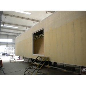 Sandwich panel for bus